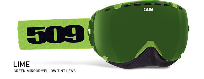 Lime Aviator Snow Goggle