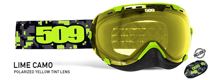 Lime Camo Aviator Snow Goggle