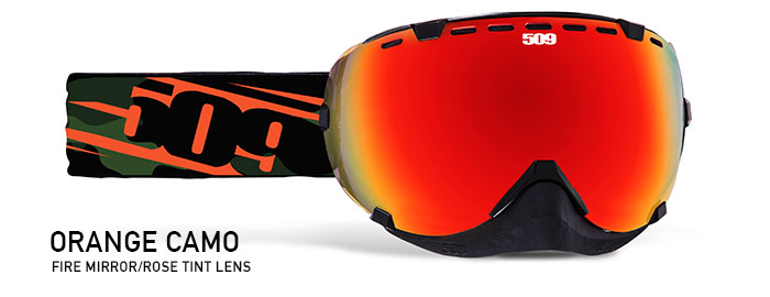 Orange Camo Aviator Snow Goggle