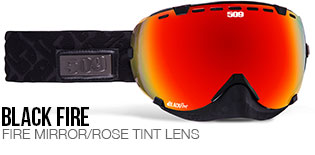 Black Fire Aviator Snow Goggle