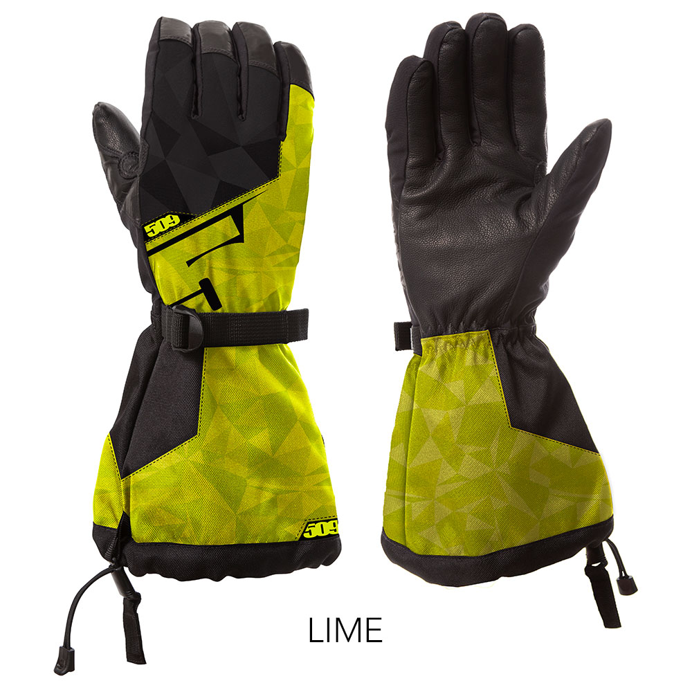 509 Lime Backcountry Snowmobile Gloves