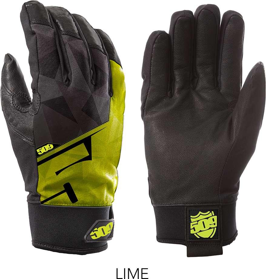 509 Lime Freeride Snowmobile Gloves