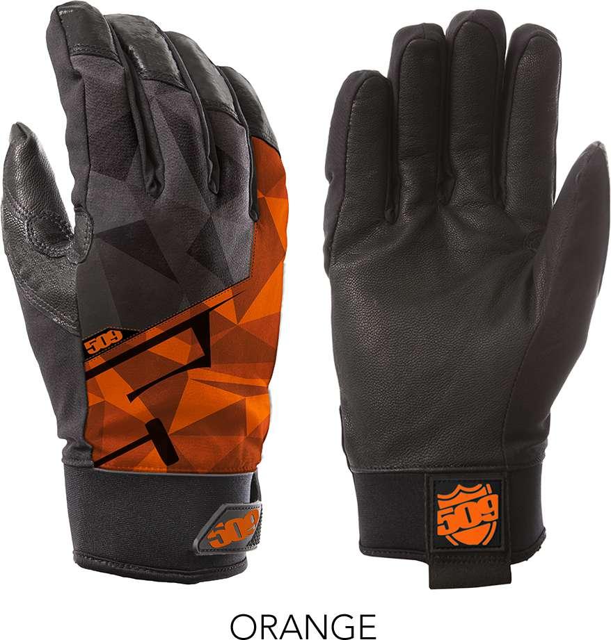 509 Orange Freeride Snowmobile Gloves