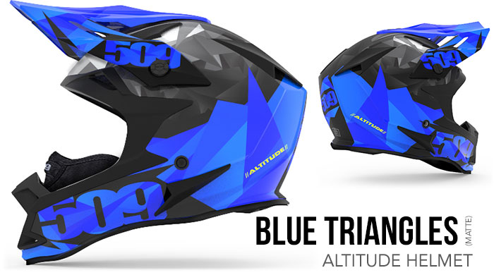 Blue Triangles Altitude Snow Helmet