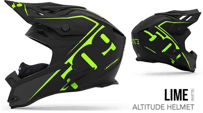 Lime Altitude Snow Helmet