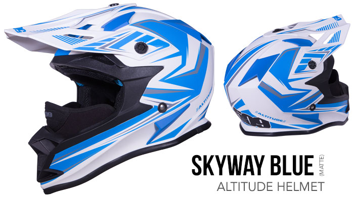 Skyway Blue Altitude Snow Helmet