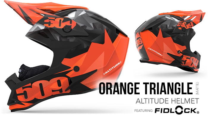 Orange Triangles Altitude Snow Helmet