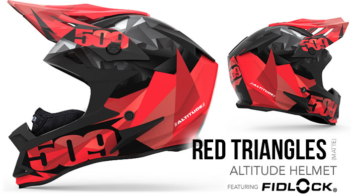 Red Triangles Altitude Snow Helmet