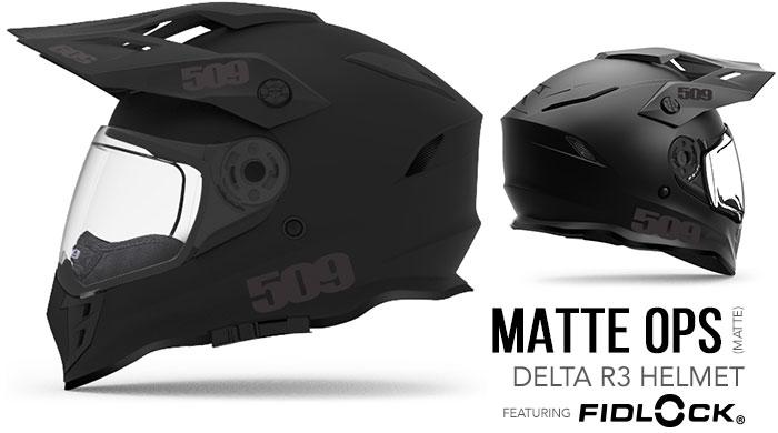 Matte Ops Delta R3 Snow Helmet
