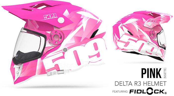 Pink Delta R3 Snow Helmet