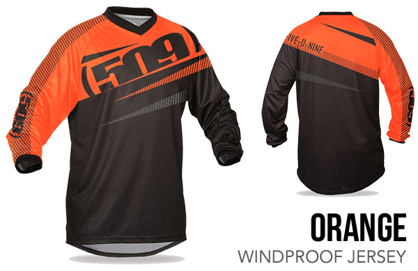 Orange Windproof Jersey