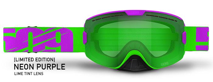 Limited Edition Neon Purple Kingpin Snow Goggle