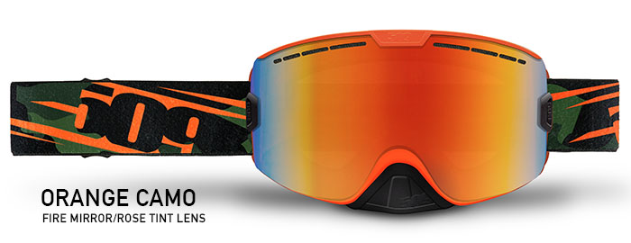 Orange Camo Kingpin Snow Goggle