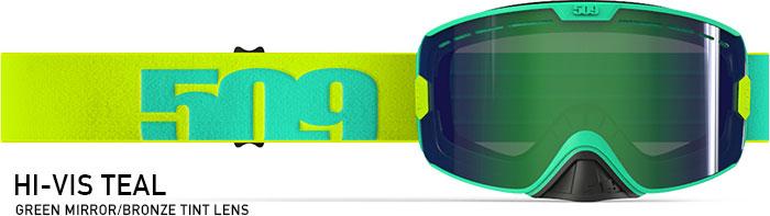 Hi-Vis Teal Kingpin Snow Goggle