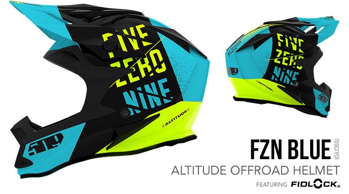 FZN Blue Altitude Offroad Helmet with Fidlock®
