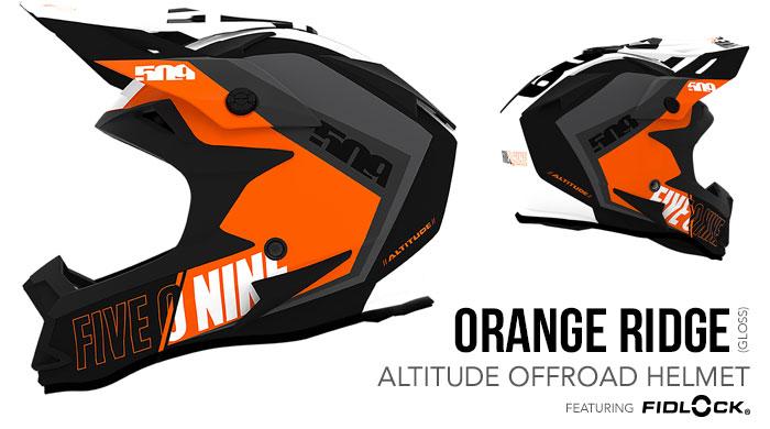 Orange Altitude Offroad Helmet with Fidlock®
