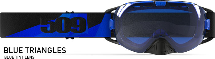 Blue Triangles Revolver Snow Goggle