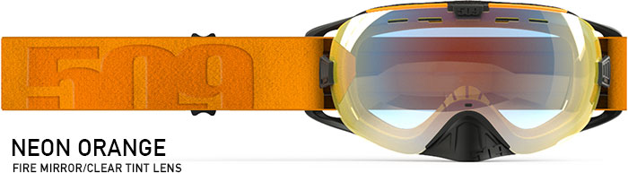 Limited Edition Neon Orange Revolver Snow Goggle