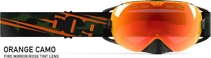 Orange Camo Revolver Snow Goggle