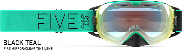 Black Teal Revolver Snow Goggle