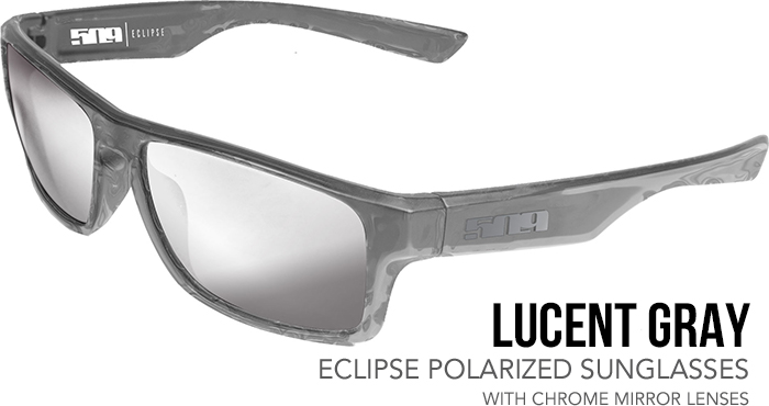509 Lucent Gray Eclipse Polarized Sunglasses with Chrome Tint Lenses