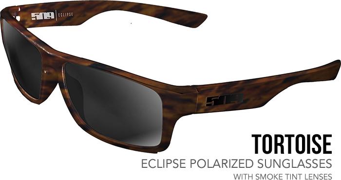 509 Tortoise Eclipse Polarized Sunglasses with Smoke Mirror Lenses