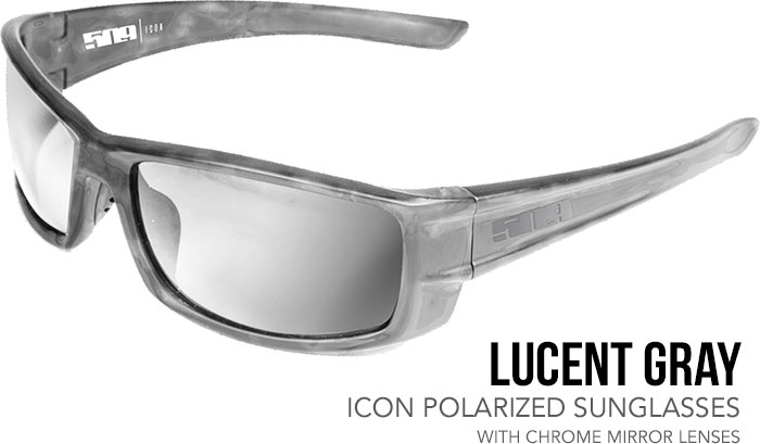 509 Lucent Gray Icon Polarized Sunglasses with Chrome Mirror Lenses