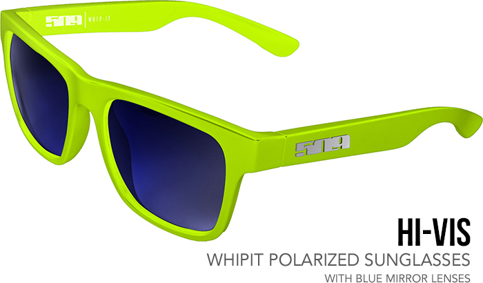 509 Hi-Vis Whipit Polarized Sunglasses with Blue Mirror Tint Lenses