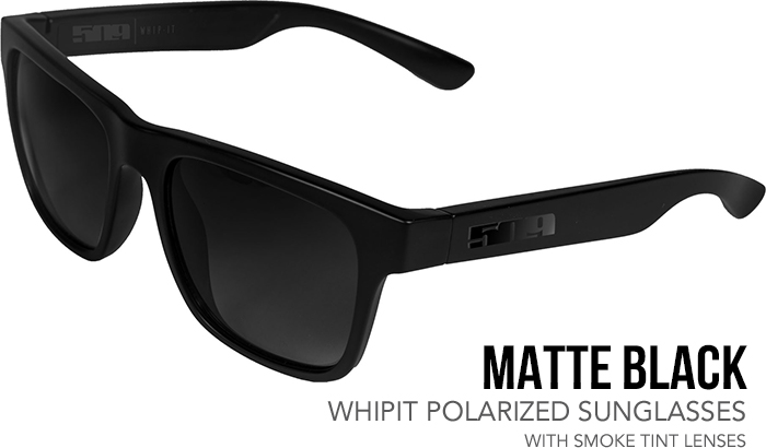 509 Matte Black Whipit Polarized Sunglasses with Smoke Tint Lenses