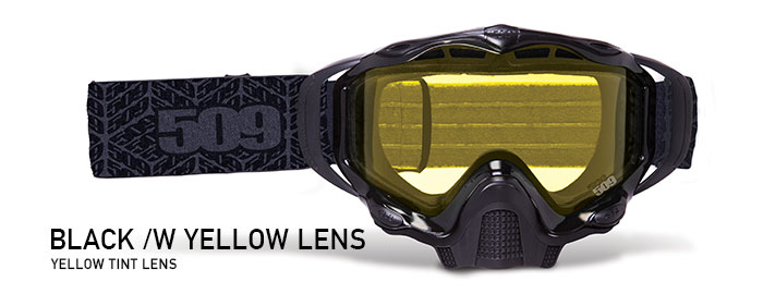 Black with Yellow Tint Lens Sinister X5 Snow Goggle
