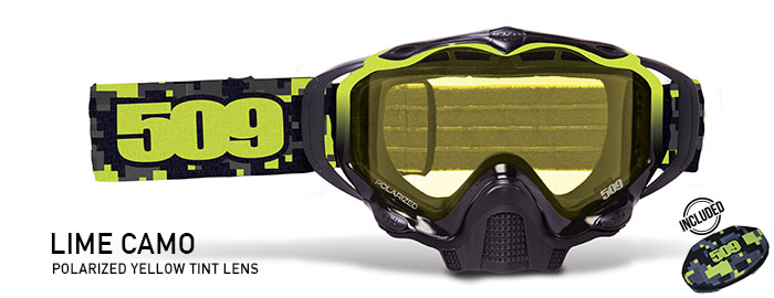 Lime Camo Sinister X5 Snow Goggle