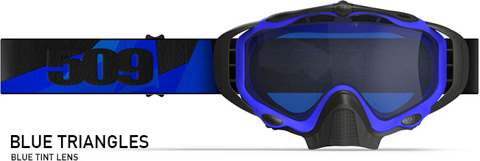 Blue Triangles Sinister X5 Snow Goggle