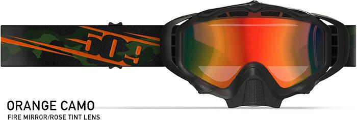 Orange Camo Sinister X5 Snow Goggle