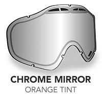 Chrome Mirror/Orange Tint Sinister X5 Lens