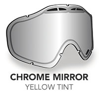 Chrome Mirror/Yellow Tint Sinister X5 Lens