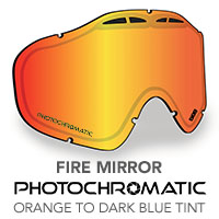 Fire Mirror/Photochromatic Orange to Dark Blue Tint Sinister X5 Lens