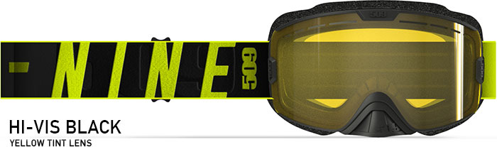 Hi-Vis Black Kingpin XL Snow Goggle