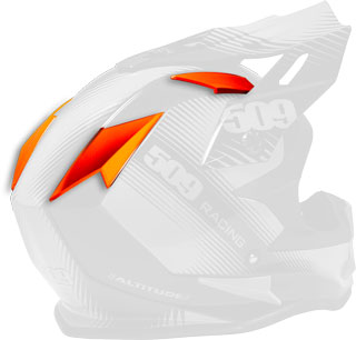 Fire Orange Replacement Vent Covers for Altitude Helmets
