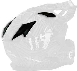 Gloss Black Replacement Vent Covers for Altitude Helmets
