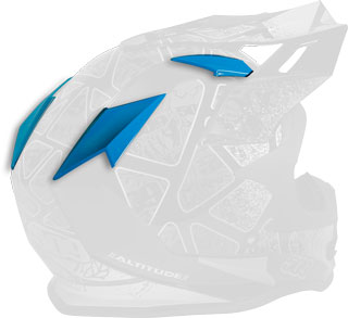 Ice Blue Replacement Vent Covers for Altitude Helmets