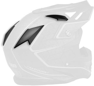 Matte Black Replacement Vent Covers for Altitude Helmets
