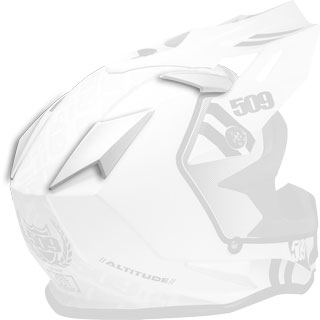 Storm White Replacement Vent Covers for Altitude Helmets