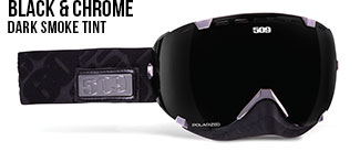 Black & Chrome Aviator Snow Goggle