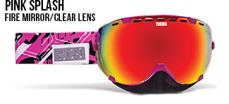 Pink Splash Aviator Snow Goggle
