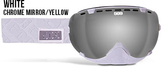 White Aviator Snow Goggle