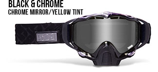 Black & Chrome Sinister X5 Snow Goggle