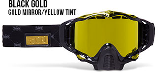 Black Gold Sinister X5 Snow Goggle